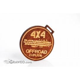 Okrągły drewniany medal