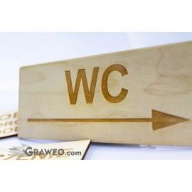 Tabliczka grawerowana z drewna