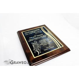 Grawerton, podziękowanie, dyplom grawerowany
