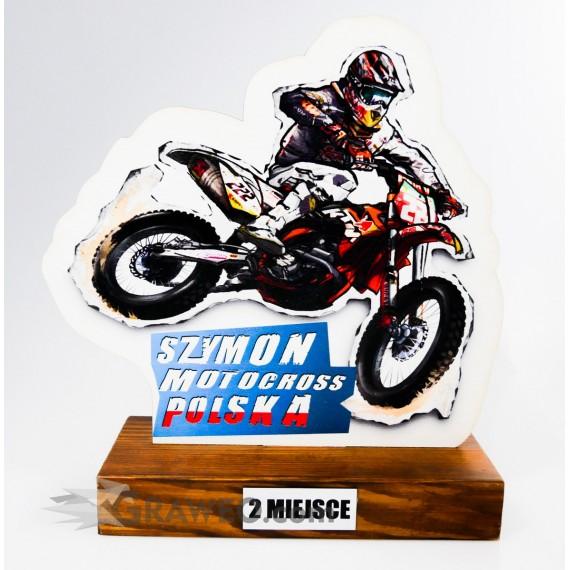Statuetka motocykl motocross