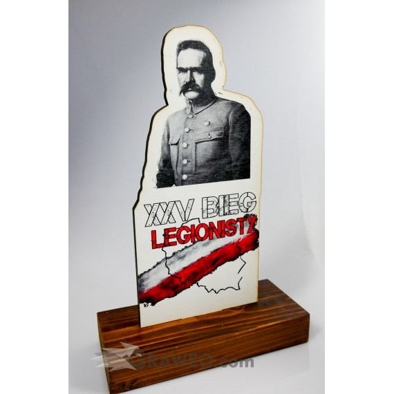 Statuetka ze sklejki, okolicznościowa - Bieg Niepodległości